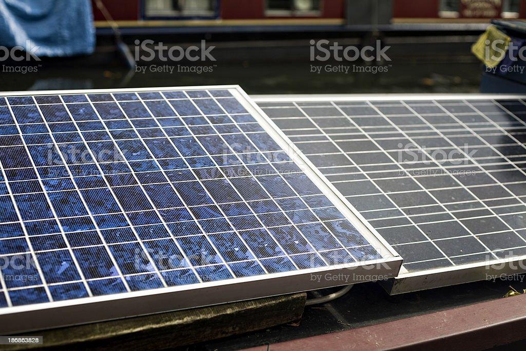 solar energy cells stock photo