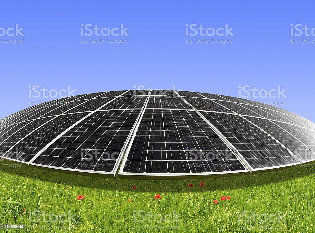 Solar energy panels royalty-free stock photo