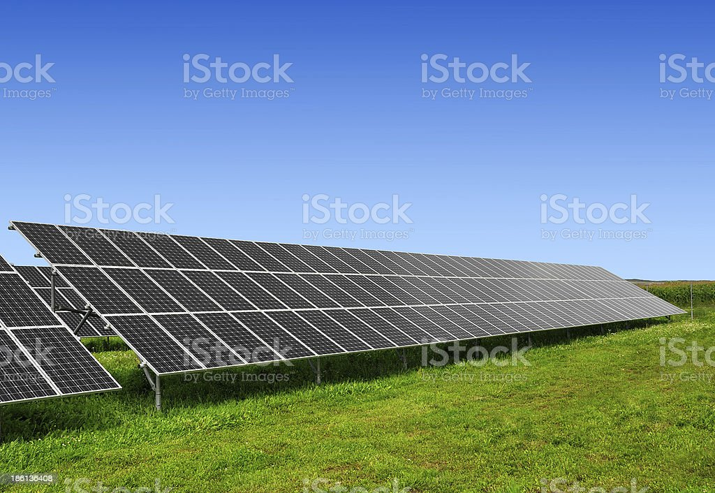 Solar energy panels royalty-free stock photo