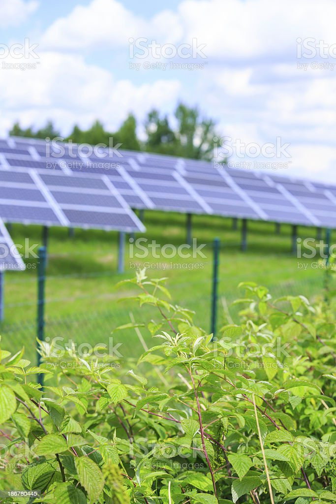 solar energy: photovoltaic panels royalty-free stock photo