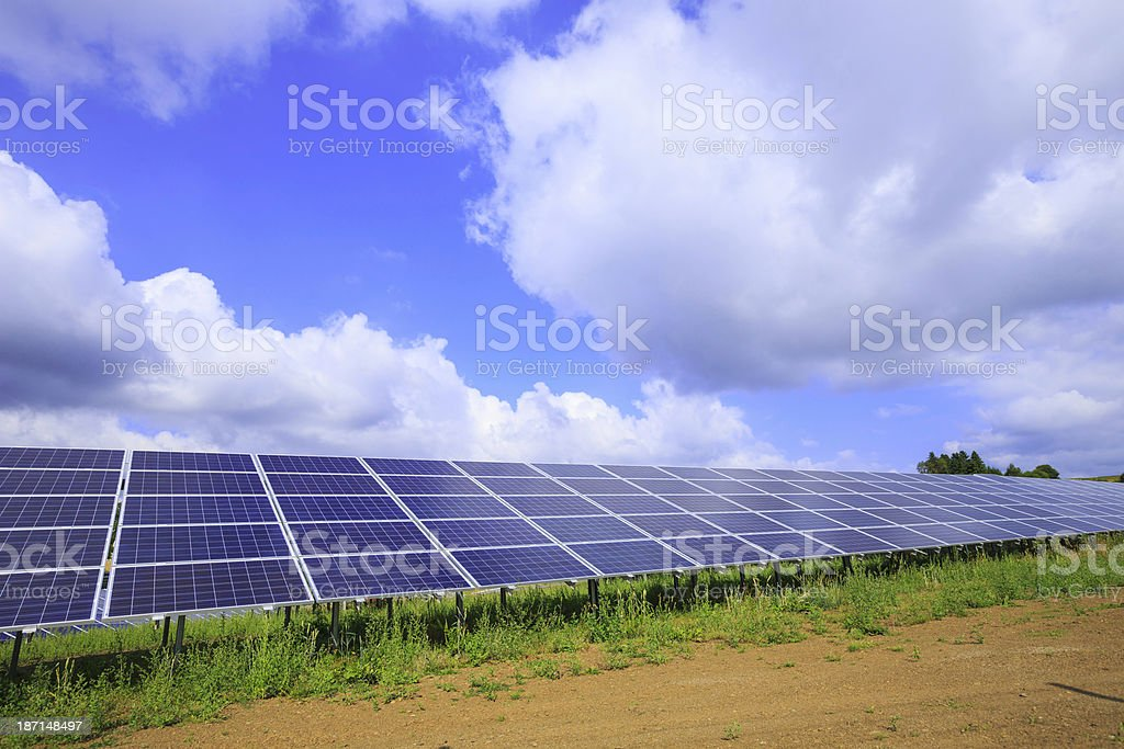 solar energy: photovoltaic panels royalty-free stock photo
