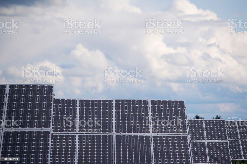 solar energy plant collector sky big royalty-free stock photo