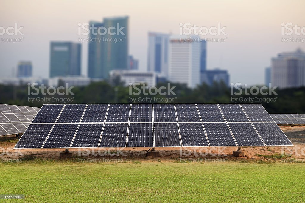 Solar energy plants and blue sky royalty-free stock photo