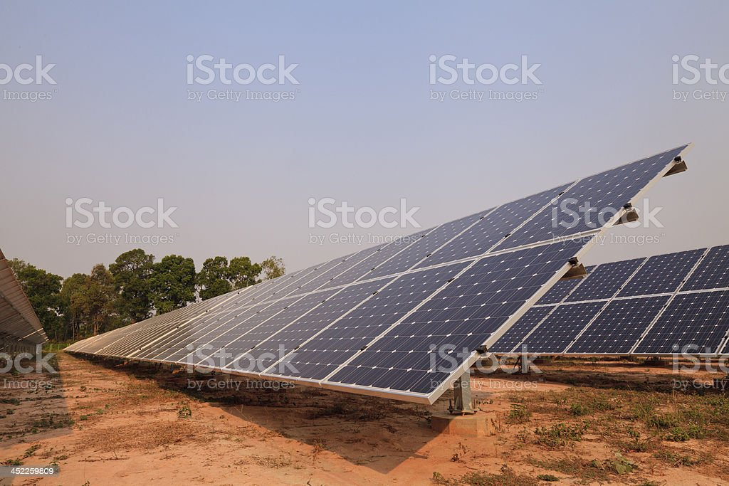 Solar energy plants royalty-free stock photo