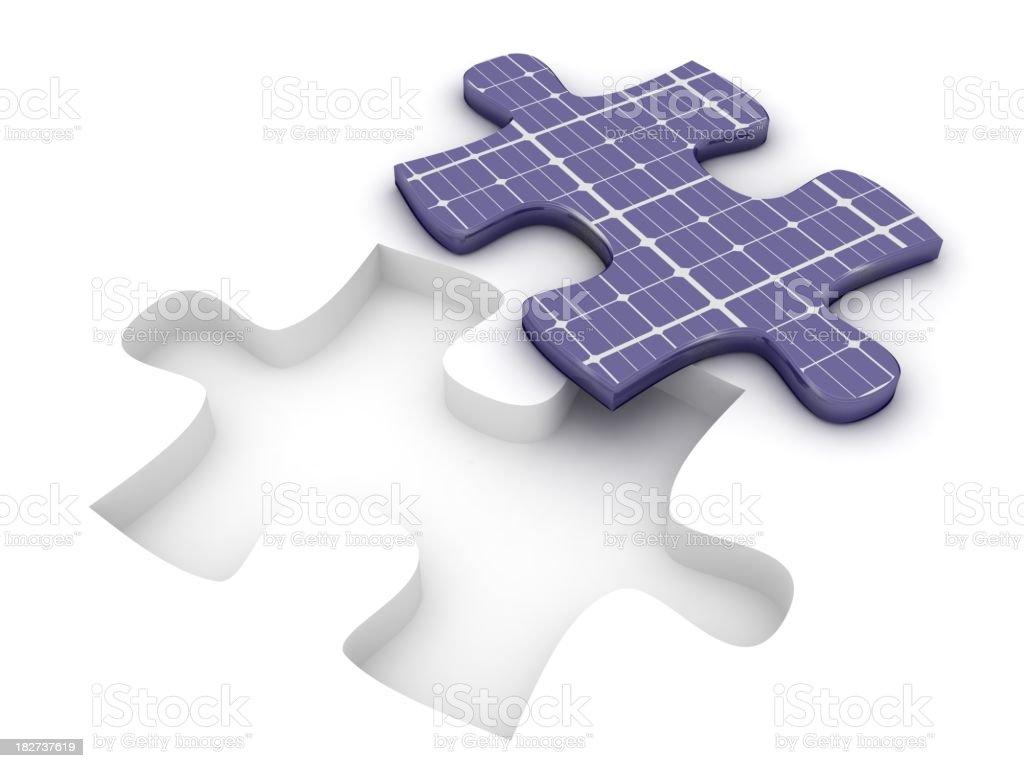 Solar Energy Puzzle royalty-free stock photo