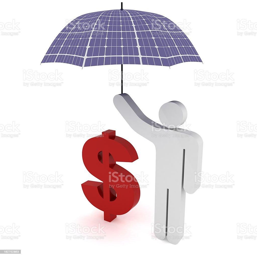 Solar Energy Savings royalty-free stock photo