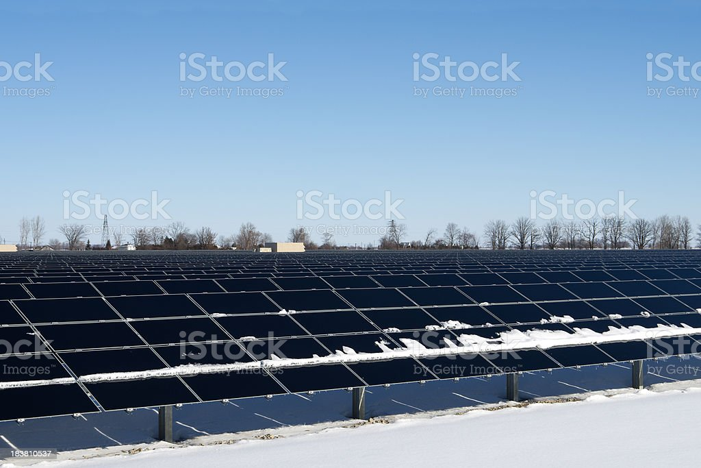 Solar Energy Site on Winter Day royalty-free stock photo