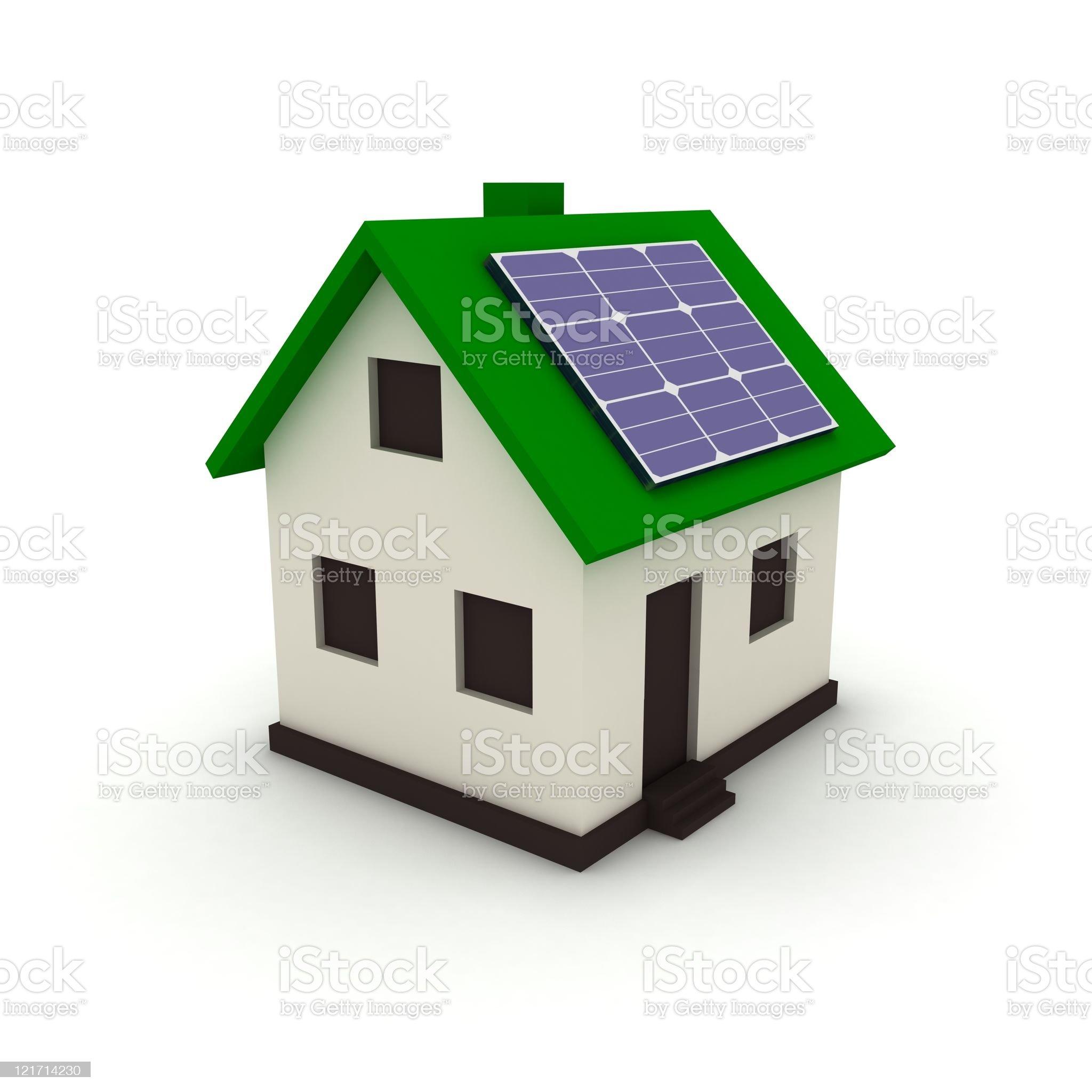 Solar energy smart house royalty-free stock photo