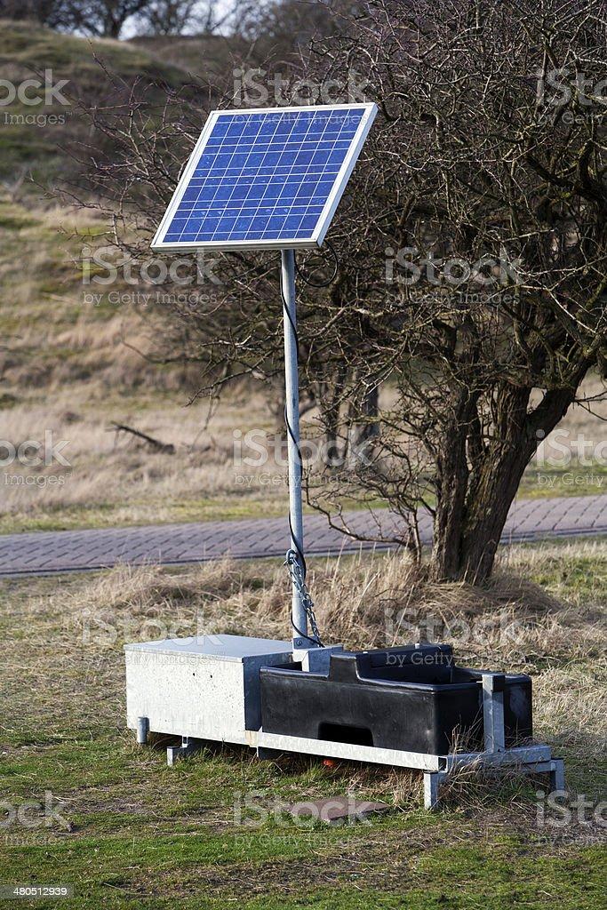 Solar energy unit stock photo