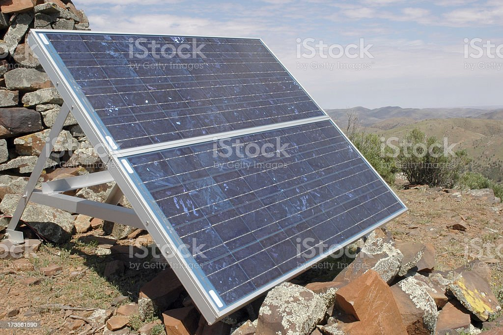 Solar energy use in the outback stock photo