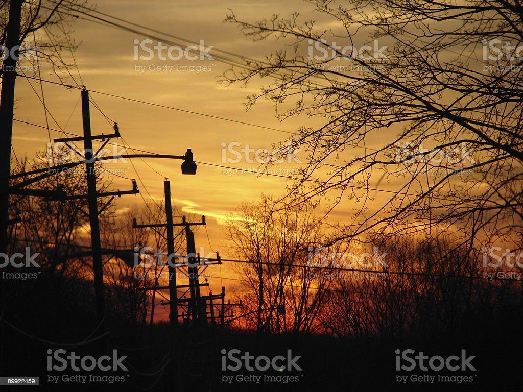 Solar energy versus electric power royalty-free stock photo