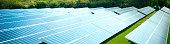Solar Farm in the British countryside