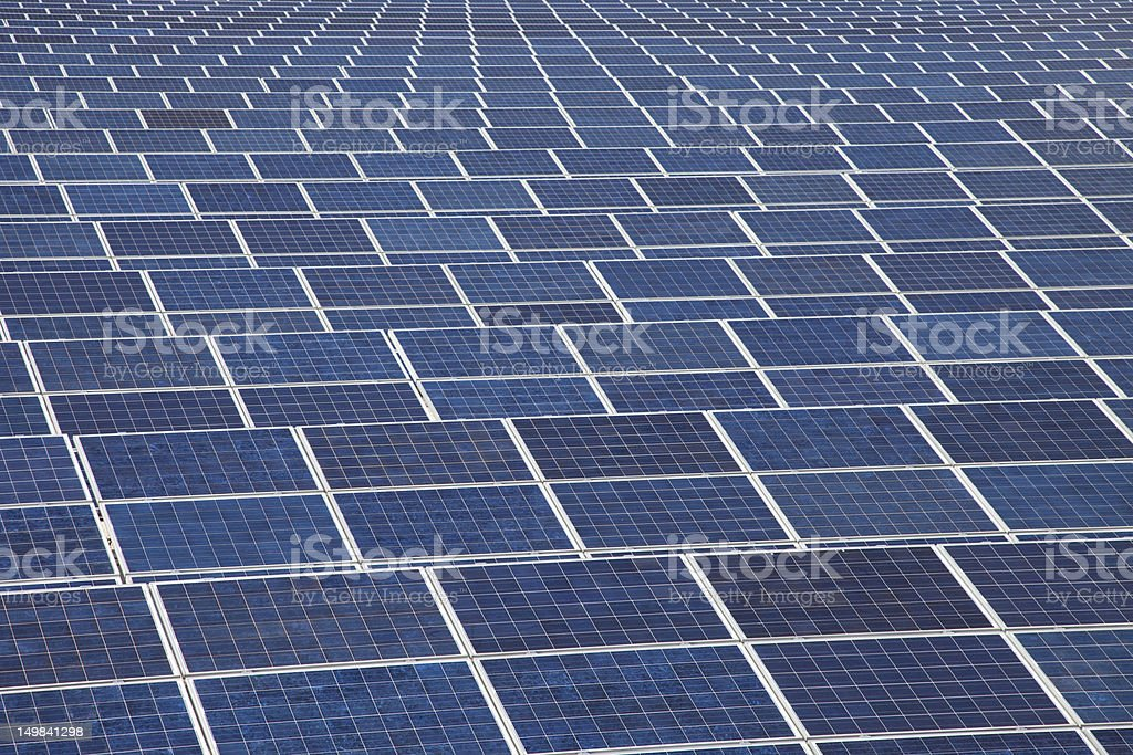 Solar Farm in the Countryside royalty-free stock photo