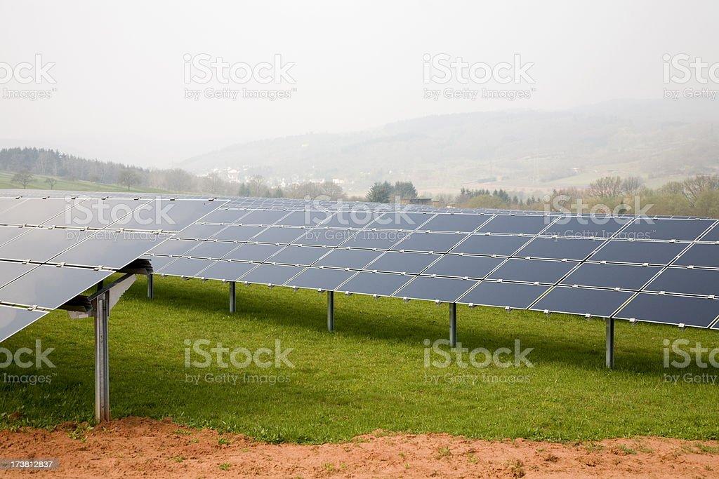Solar Farm in the Countryside stock photo