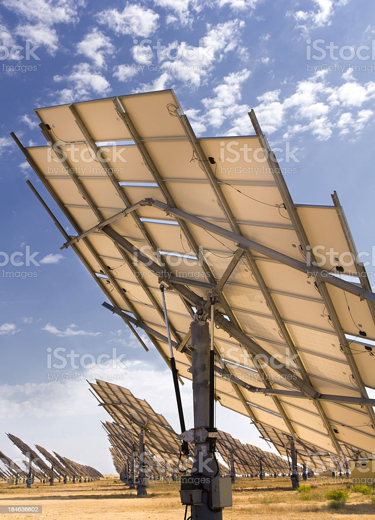 Solar farm stock photo