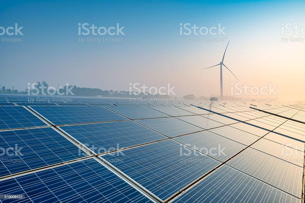 Solar farms stock photo