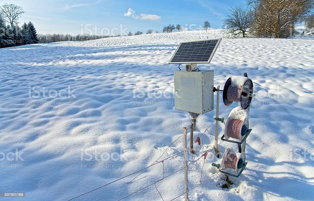 Solar fencer stock photo