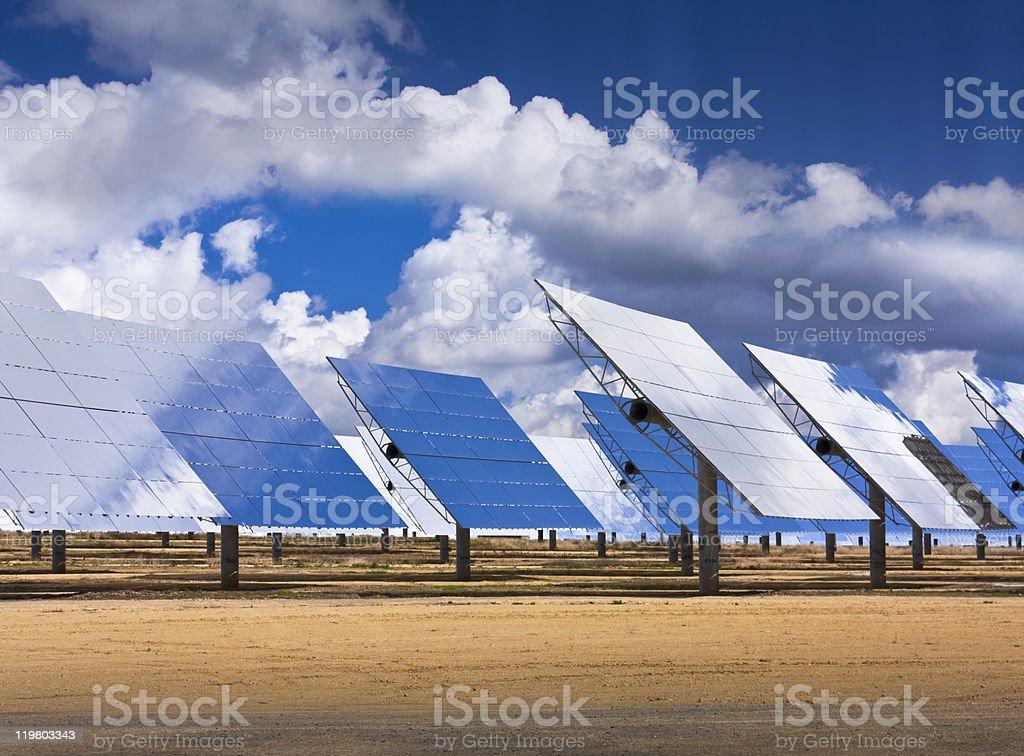 Solar Field, Heliostats stock photo