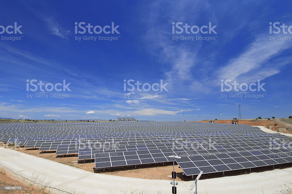 solar field royalty-free stock photo