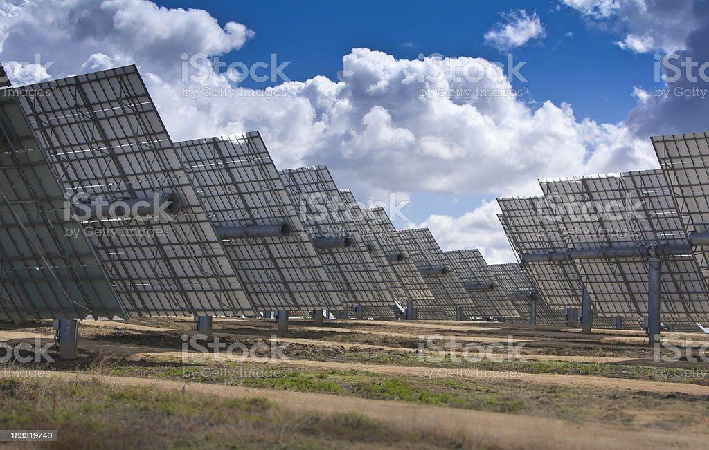 Solar Field stock photo