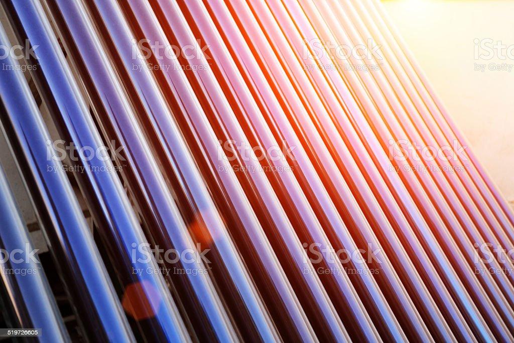 Solar glass stock photo