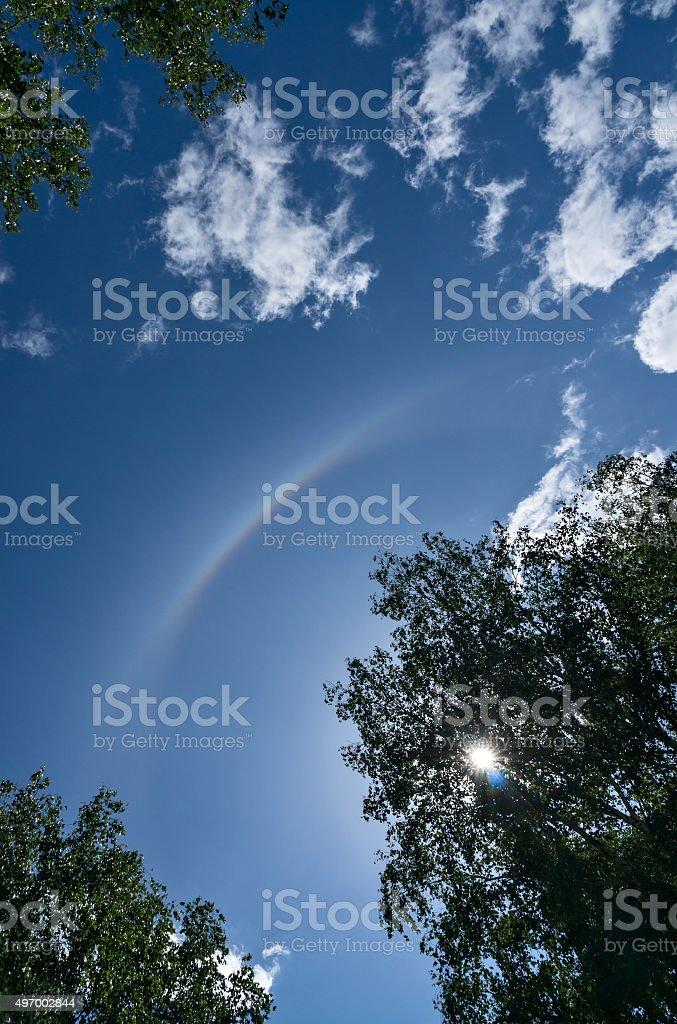 Solar halo stock photo