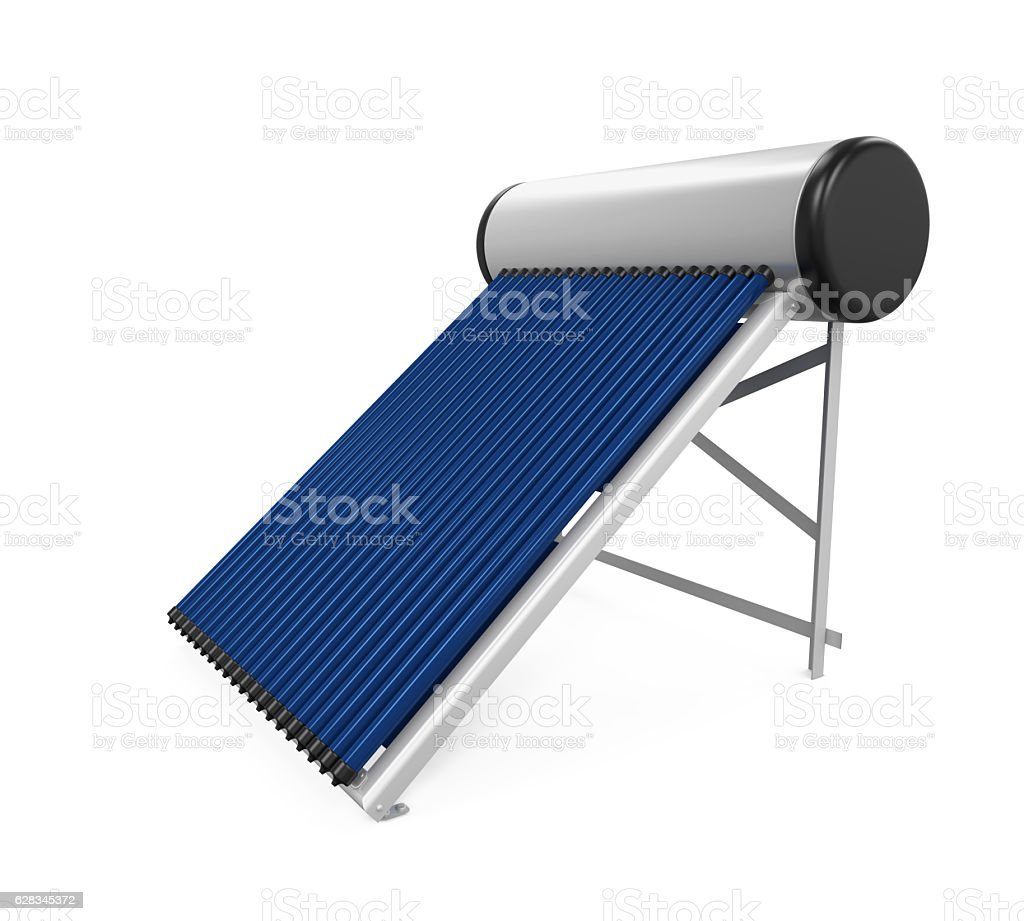 Solar Heat Pipe Collector stock photo