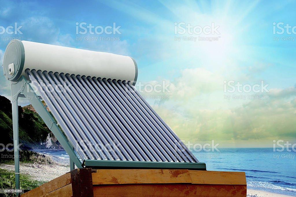 Solar heater royalty-free stock photo
