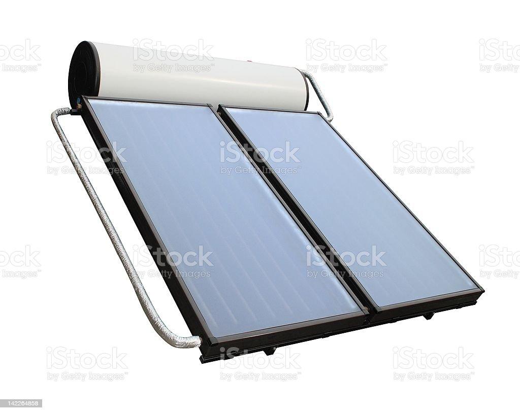 Solar heater system stock photo