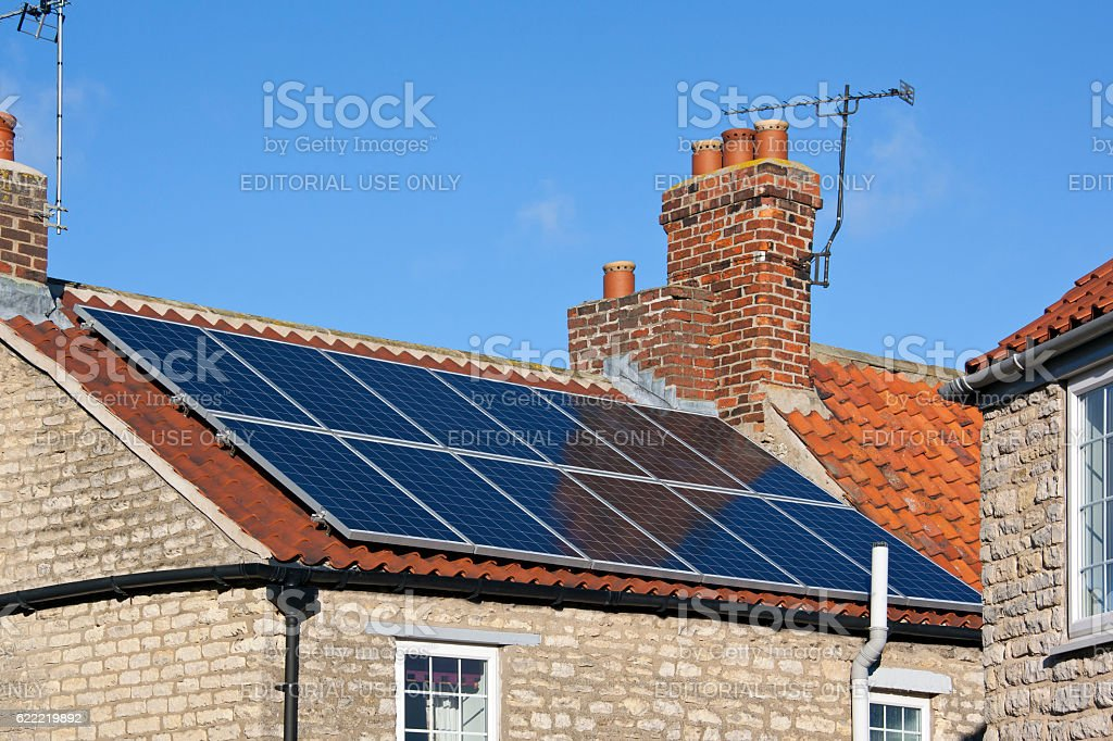Solar Heating - Domestic Rooftop stock photo