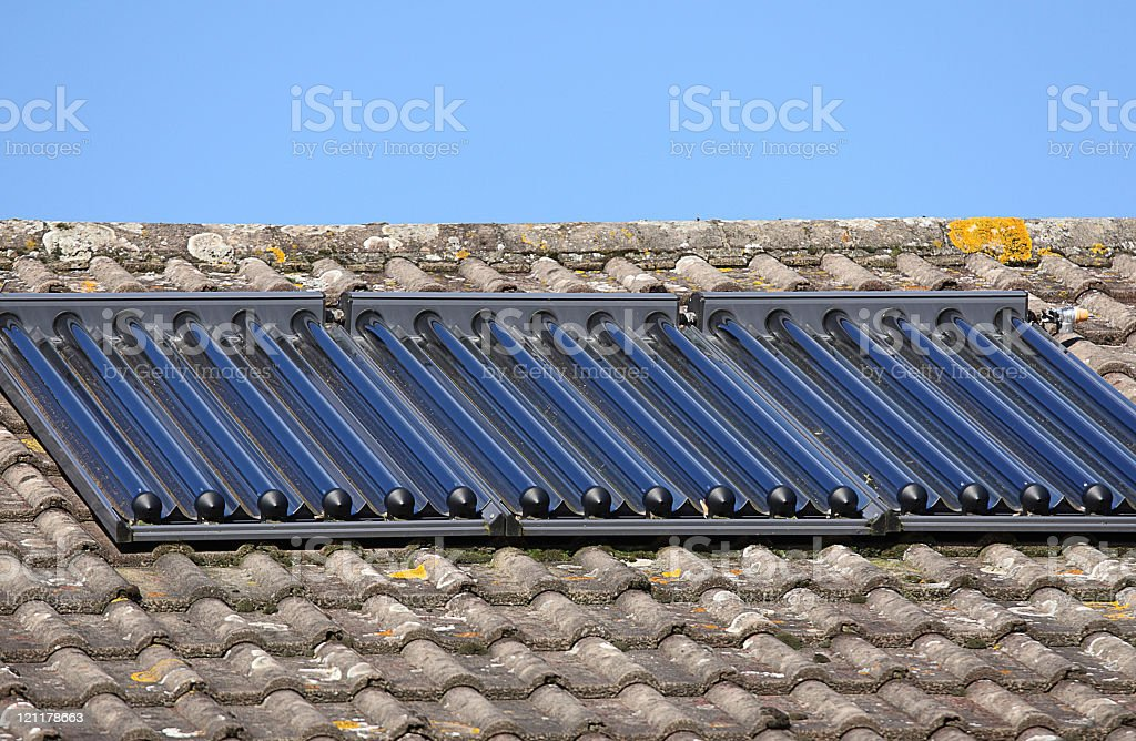 Solar heating panels royalty-free stock photo