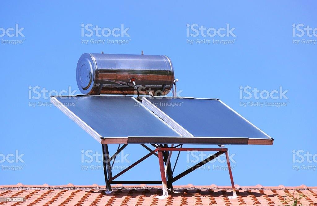 Solar heating stock photo