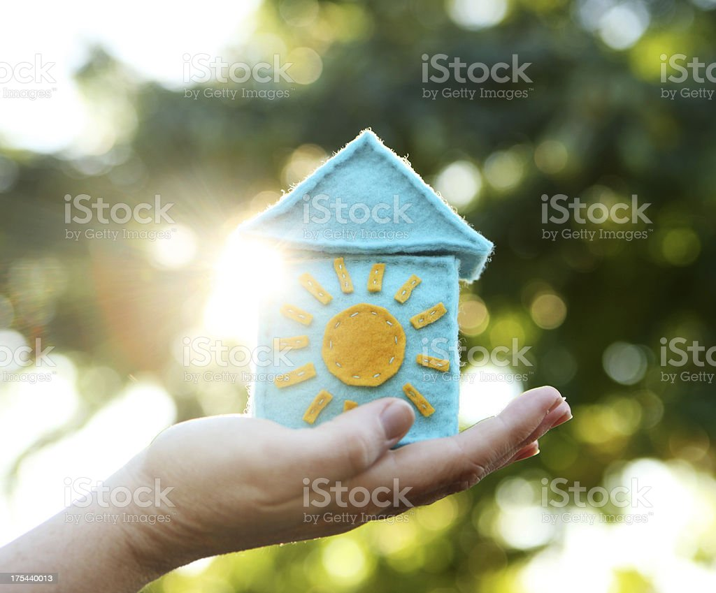 Solar Home royalty-free stock photo