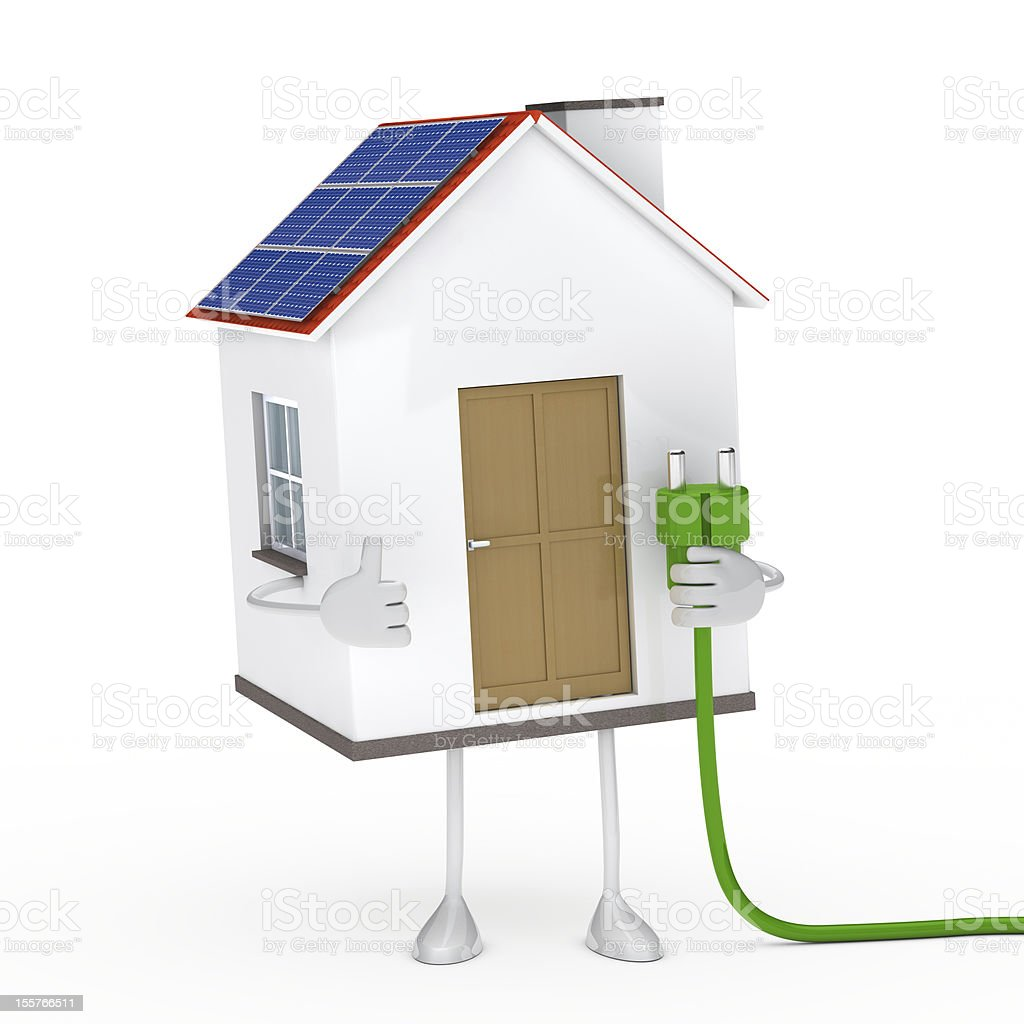 solar house figure royalty-free stock photo