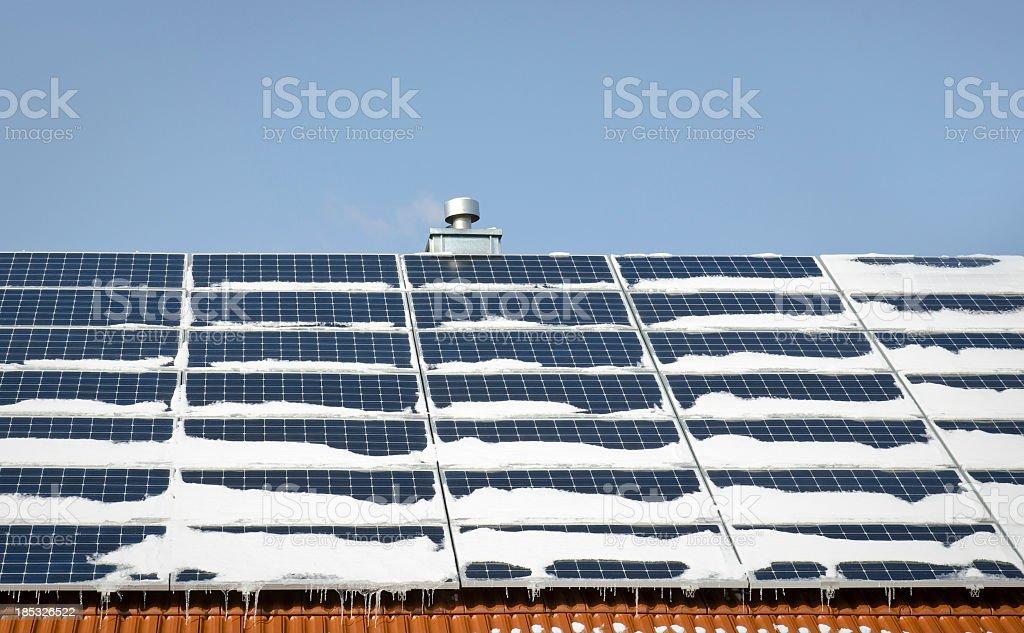 solar in winter stock photo