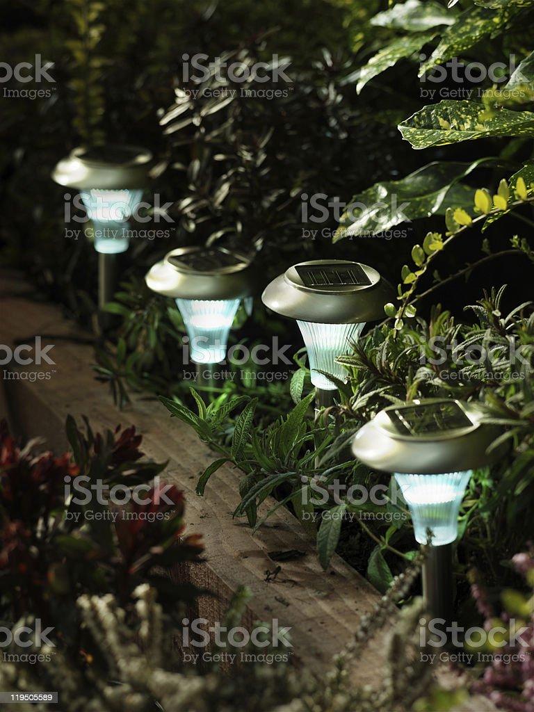 Solar Lights stock photo