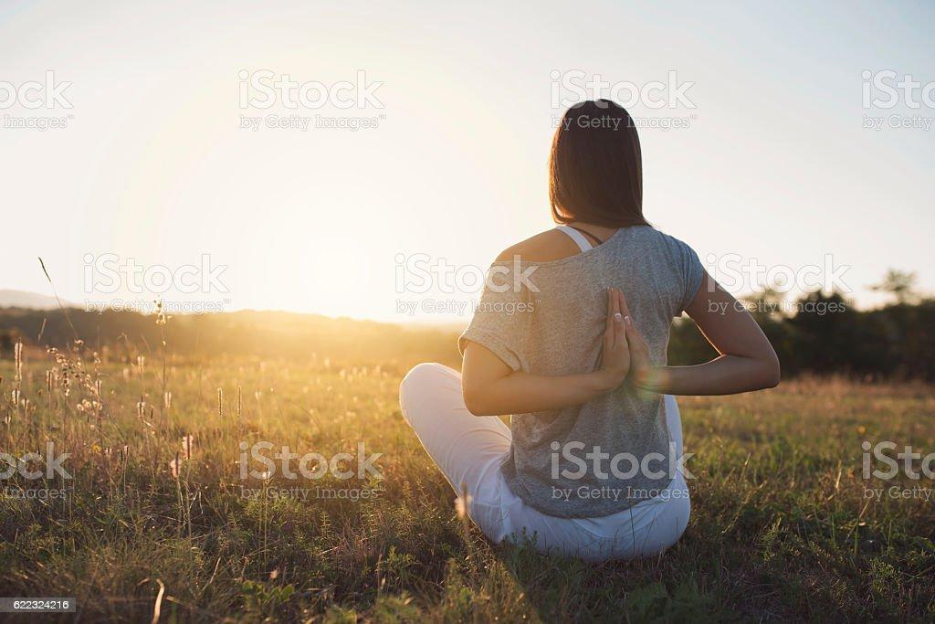 Solar Meditation stock photo