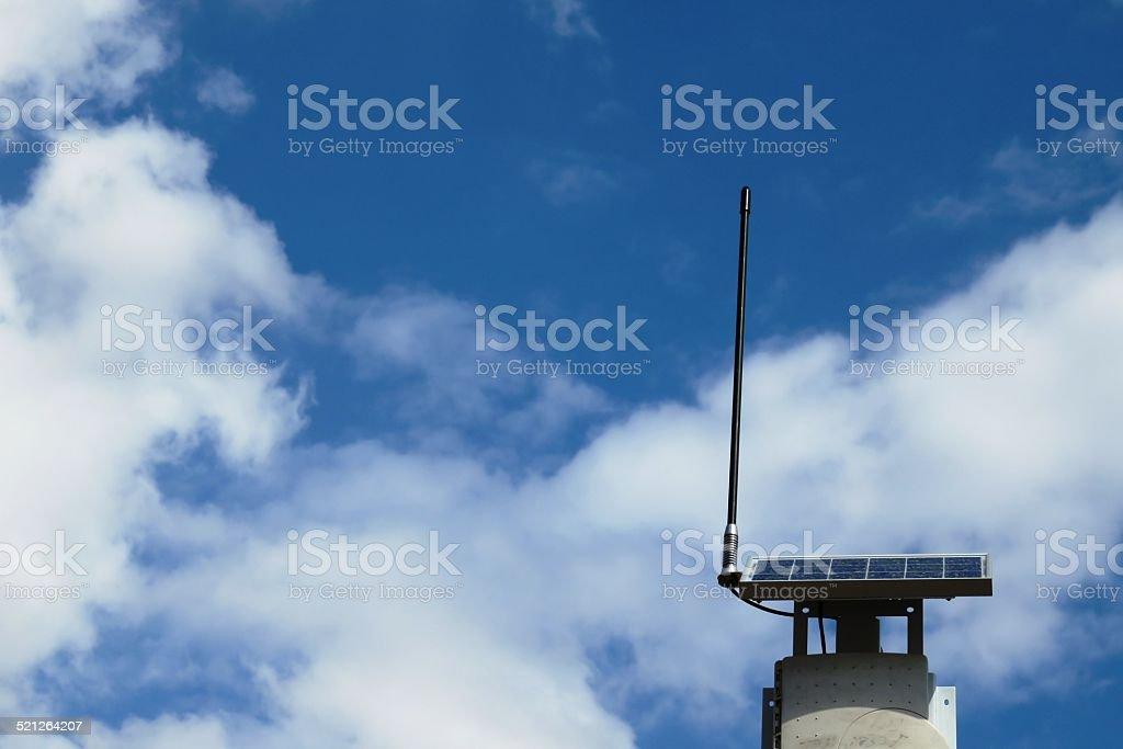 Solar Panel and Antenna stock photo