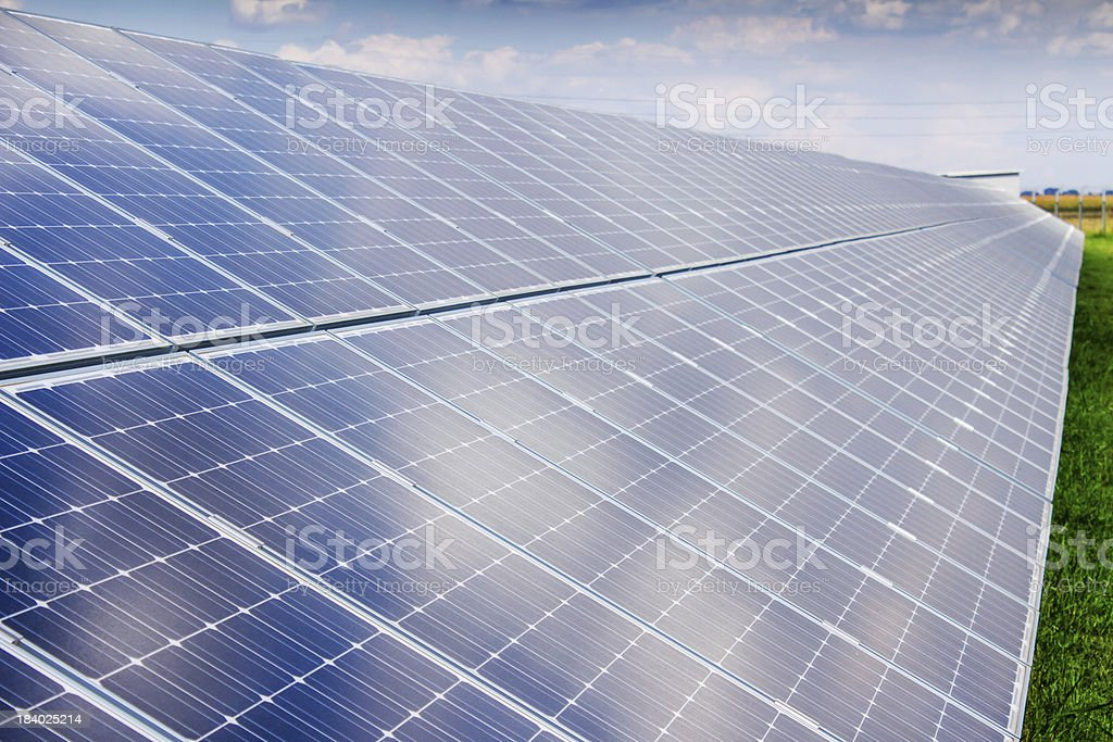 solar panel and renewable energy royalty-free stock photo