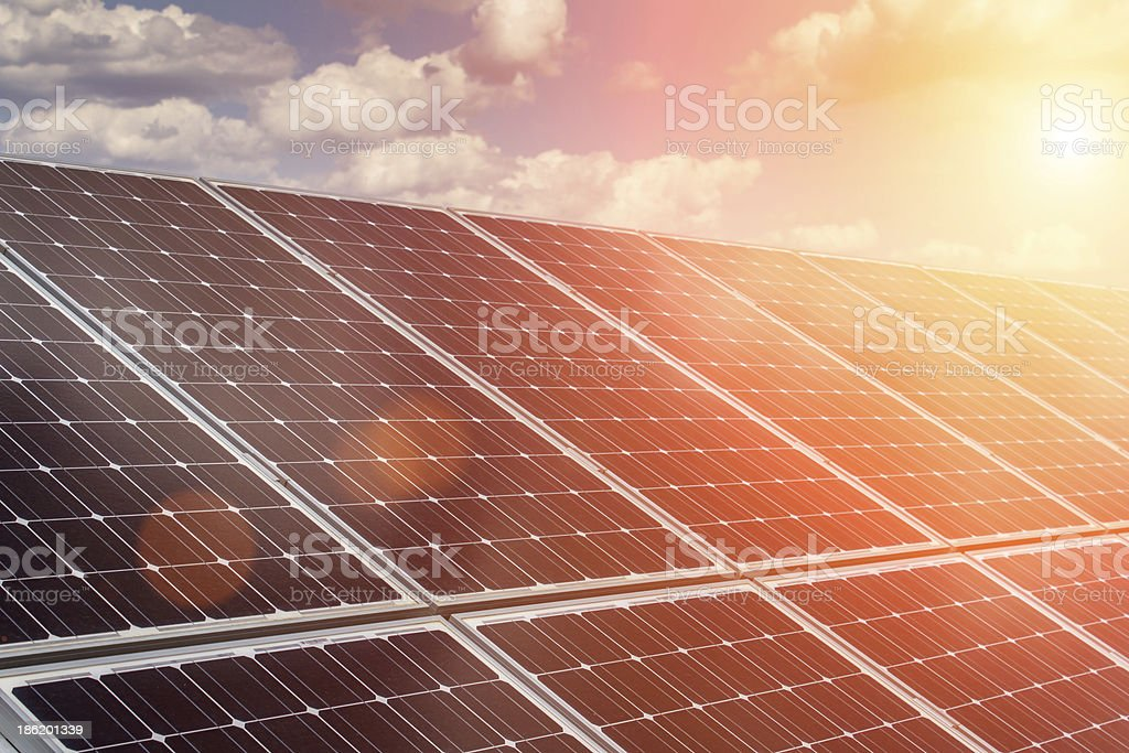 solar panel and renewable energy royalty-free stock photo