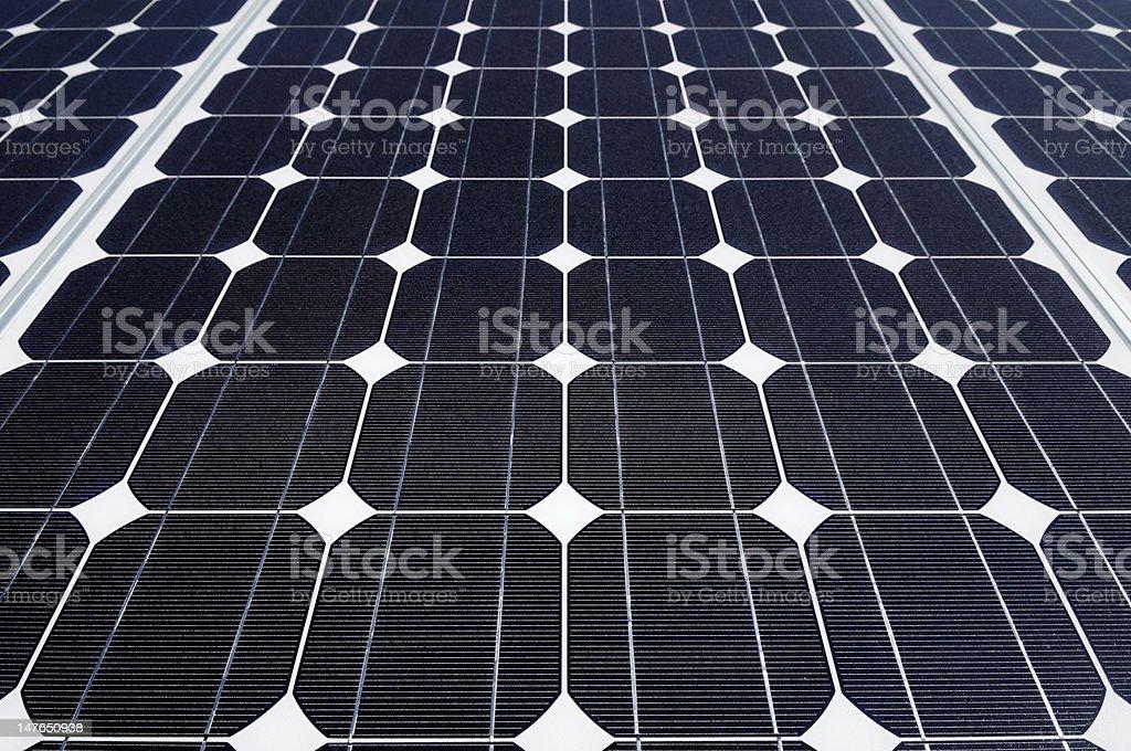 Solar panel background stock photo