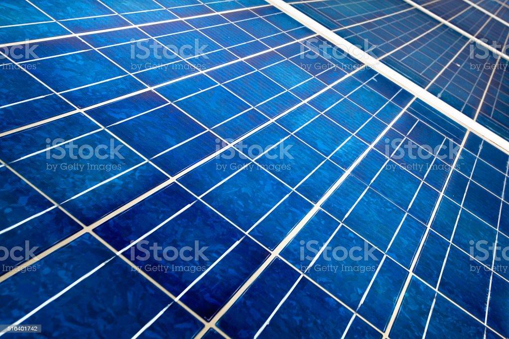 Solar panel close up stock photo