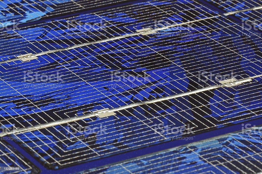 Solar panel detail stock photo