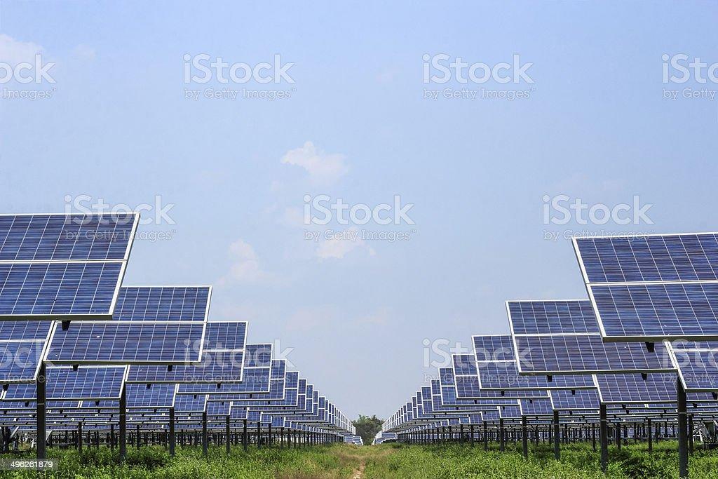 solar panel  energy from the sun stock photo