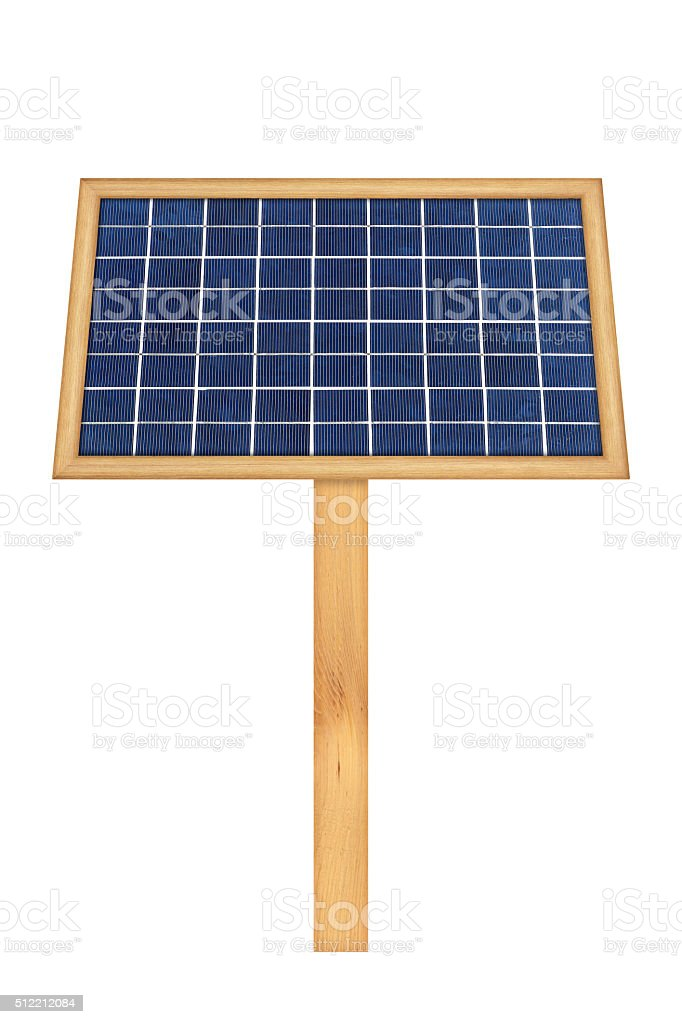 solar panel energy on white background stock photo