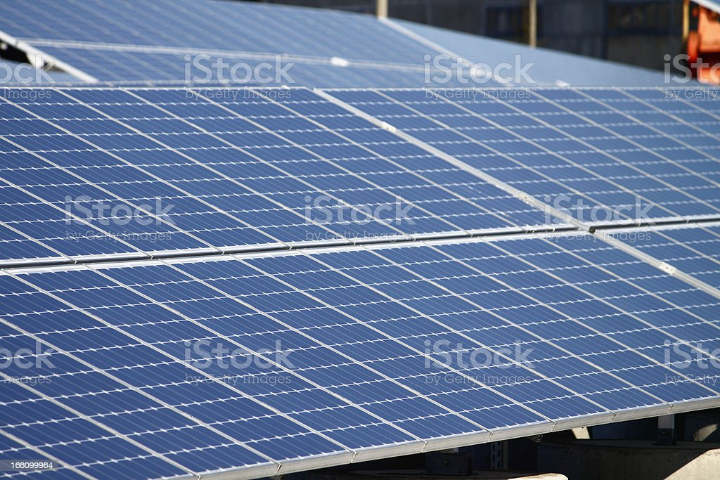 solar panel energy renewable stock photo