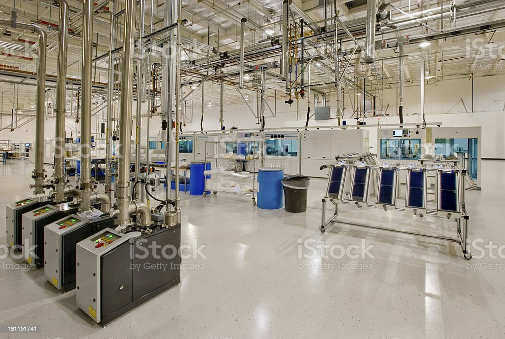 Solar Panel Factory royalty-free stock photo