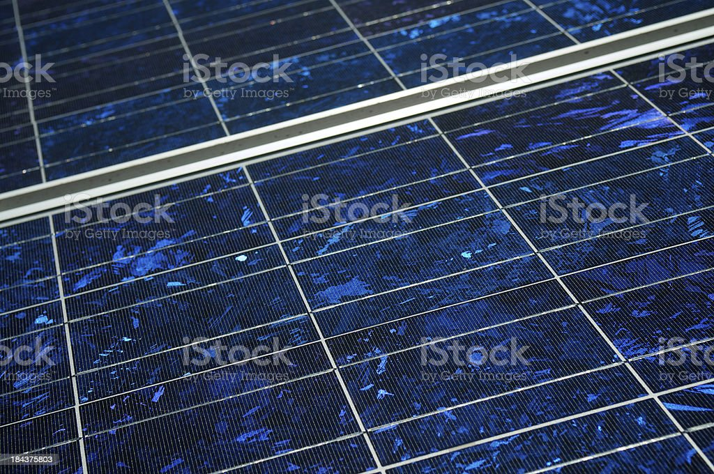Solar Panel Full Frame Close-Up Texture royalty-free stock photo