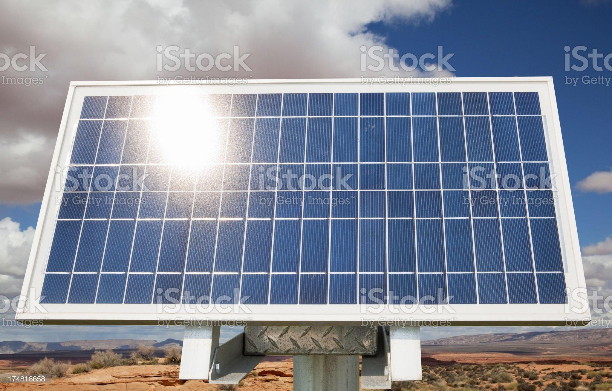 Solar Panel in the Desert royalty-free stock photo