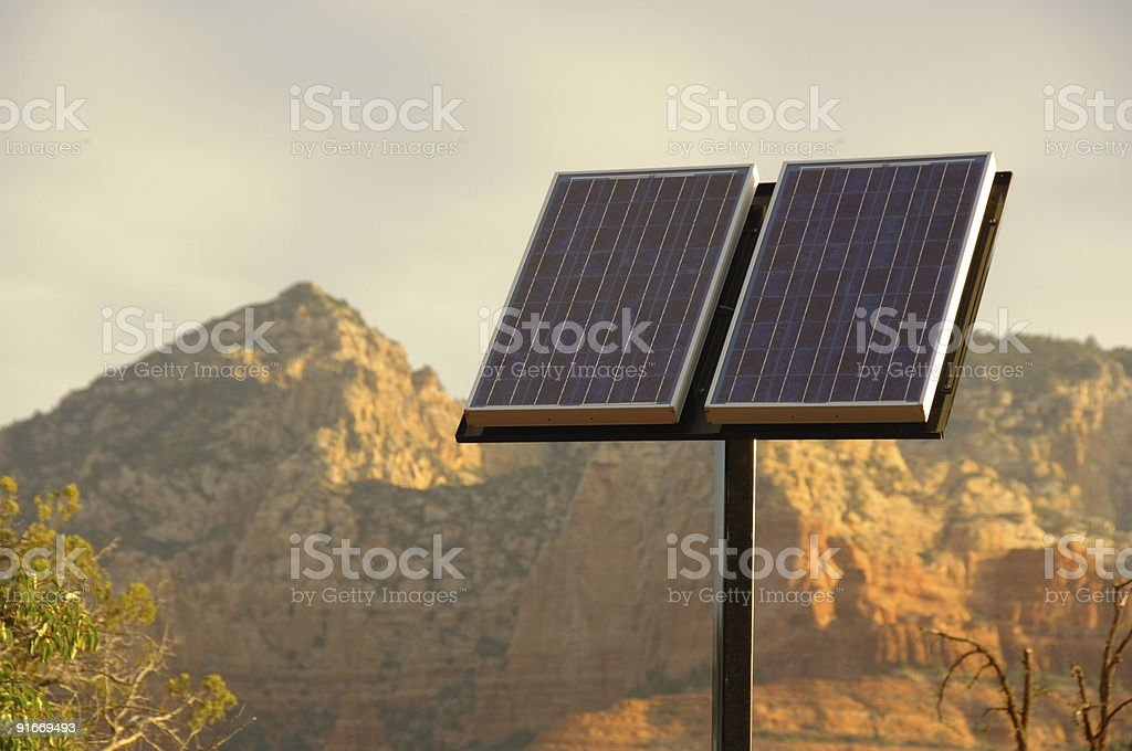 Solar Panel in the Desert royalty-free stock photo